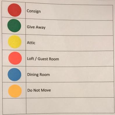 moving - dots color key