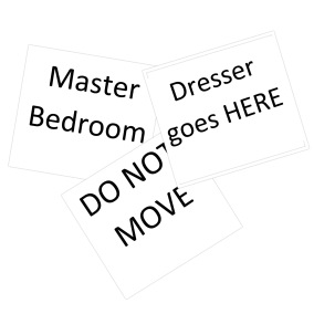 moving - signs